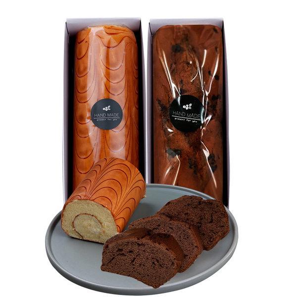 경성명과 1+1 수제 케이크 (롤 케익+다크파운드)