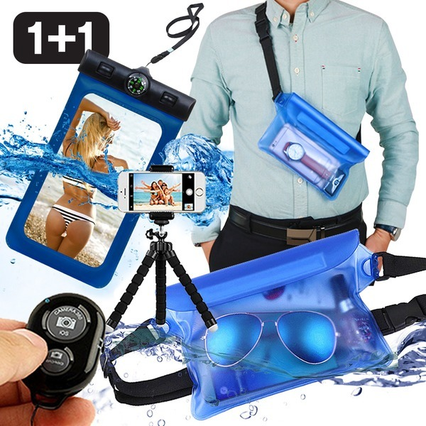 (무료배송)1+1스마트폰 방수팩 방수 가방 핸드폰 힙색