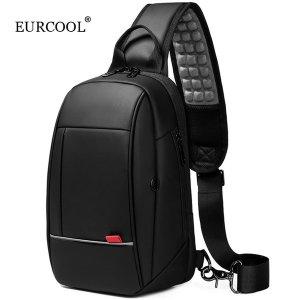 EURCOOL 남자 크로스백 USB포트 슬링백 EC-1909