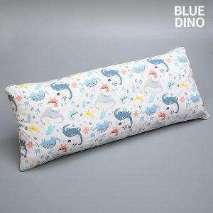 솔루나 아띠블랑 여름 아기 롱 베개 인견 블루다이노