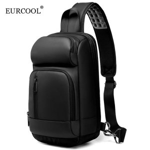 EURCOOL 남자 크로스백 USB포트 슬링백 EC-1820