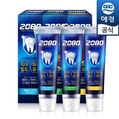 [2080] 2080 파워쉴드치약 120gx6개(블루2+그린2+골드2)