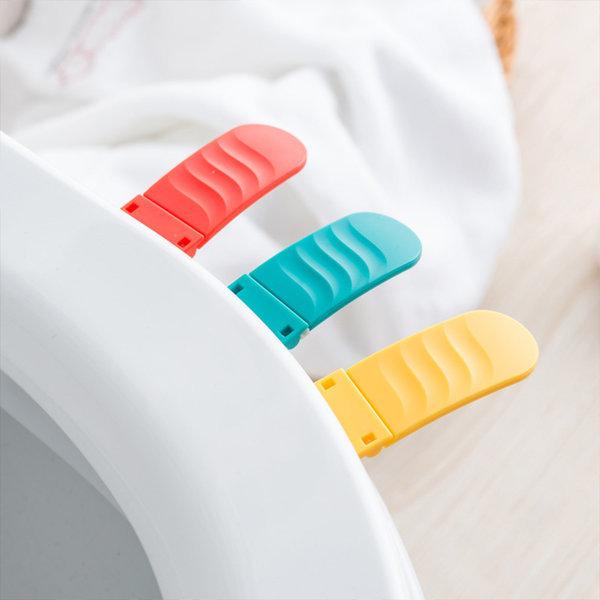 접이식 솔리드 3색 칼라 변기 커버 손잡이 세균 잘가