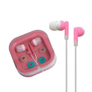 칼라 무통증 이어폰/부드러운 실리콘소재 라디오 mp3