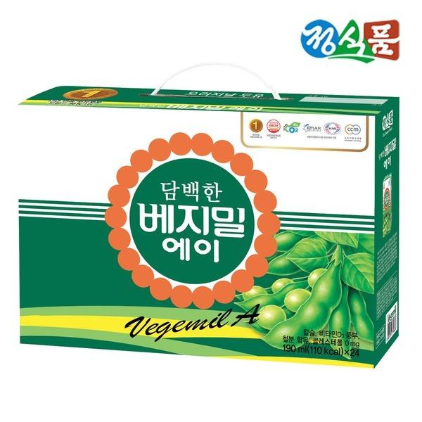 정식품 담백한 베지밀A 190ml 24팩 x 2박스 (총 48팩)