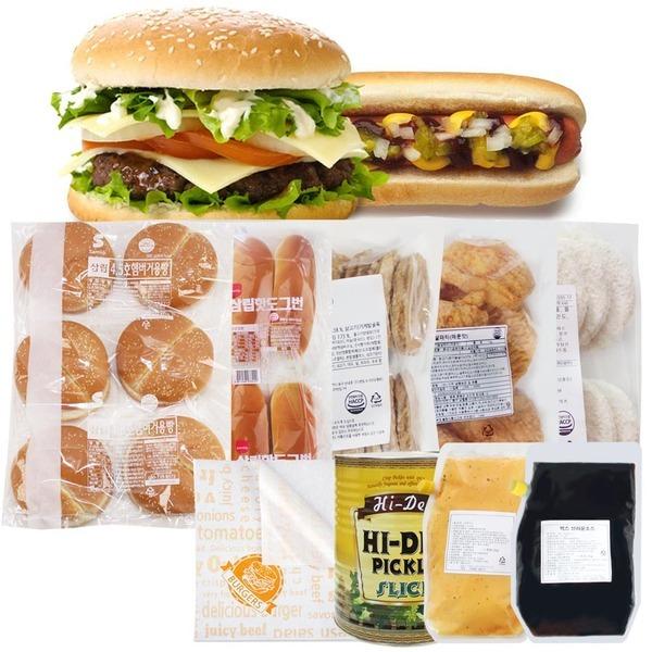 삼립 햄버거빵 4.5인치(24개)/수제버거 패티 빅버거