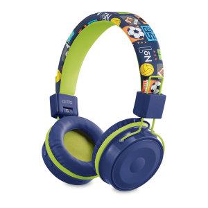 블루투스 청력보호 접이식 키즈 헤드셋 BTH-03 블루