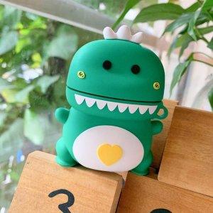에어팟1/2세대 입체공룡 캐릭터 실리콘케이스 216그린