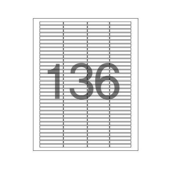 분류표기용 라벨 LS-3136 100매 136칸 폼텍