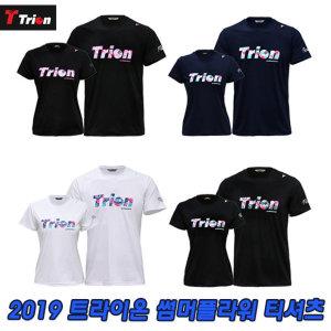 티셔츠 2019 썸머 플라워 트라이언 반팔티 반팔 티셔츠 4종 국산