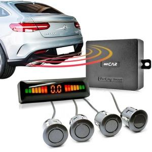 자동차 후방감지센서 후방감지기 4구 매립형 (은색)