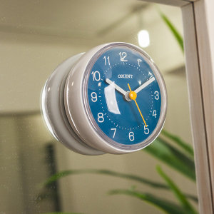 20% 쿠폰 (제조사판매/당일무료발송/AS확실) 오리엔트 OT1599W 강력한부착형 욕실 방수시계 블루 OT1599