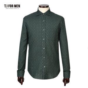 TI포맨 면100 패턴 긴팔 셔츠 M155MSH404M1GN5