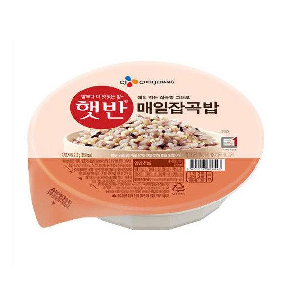CJ 햇반 매일잡곡밥 210g x 24개