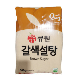 큐원 갈색설탕 4.5kg