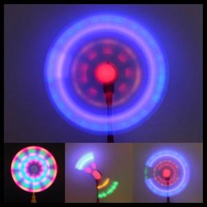 변색 LED바람개비 LED 풍차 바람개비 야광봉