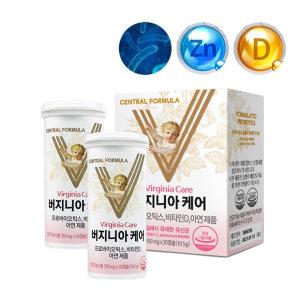 버지니아케어 여성유산균 30캡슐 X 2개/ 센트럴포뮬러