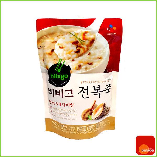 죽 캠핑 혼밥 비비고 전복죽 리필 450g