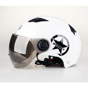귀여운 오토바이 렌즈 일체형 어반 헬멧 - 자외선차단
