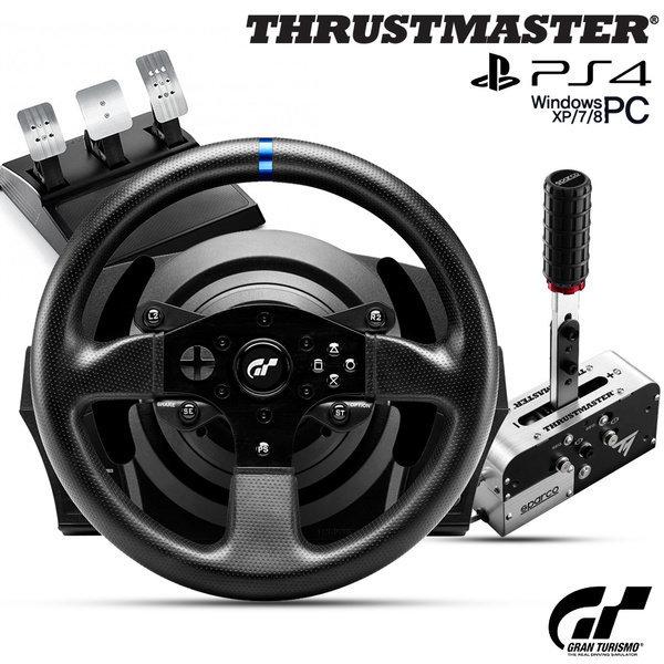 (트러스트마스터) 트러스트마스터 T300RS GT EDITION 레이싱휠  TSSH plus 핸드브레이크 패키지(PS4 PC용)