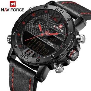 NAVIFORCE NF9134 남자 쿼츠 듀얼 코어 손목시계