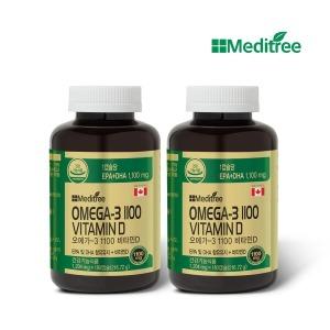 오메가3 1100 비타민D 2병 180캡슐x2(1년) 고함량