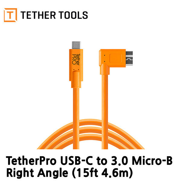 테더툴스TetherPro USB-C to 3.0 Micro-B Right Angle