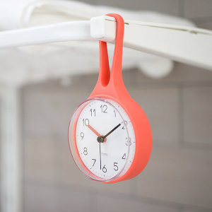 루프 방수 욕실시계 오렌지