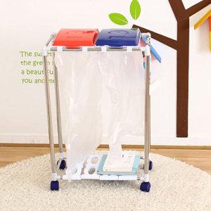 이동식 스테인레스 쓰레기 재활용 분리 수거대 수거함