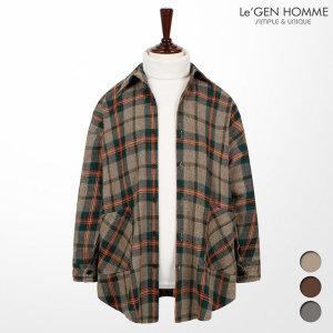 (르젠(LeGEN)) 르젠 컬러라인 체크 오버핏 셔츠자켓(LNJK944TO)