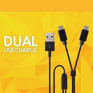 릿츠 DL-909D 듀얼 USB 충전케이블(C타입+5핀) 케이블