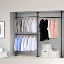 3단 스크류 행거 옷걸이 옷 헹거 드레스룸 시스템 블랙