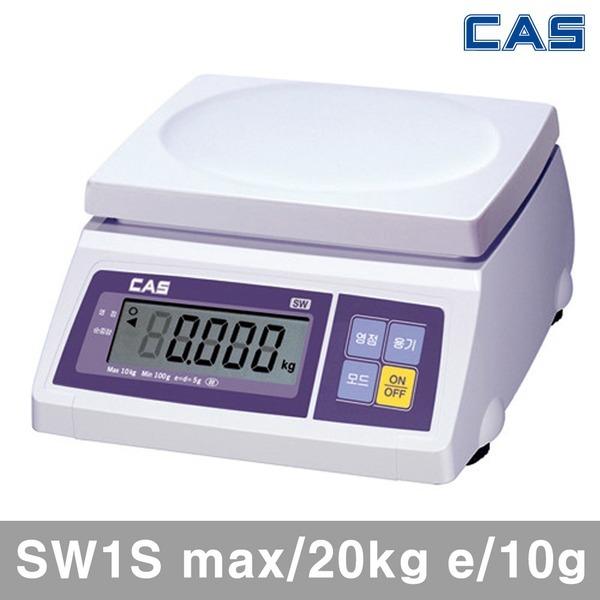 CAS 전자저울 SW1S/최대20kg 최소10g 저울 디지털저울