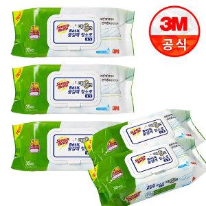 3M 쓰리엠 베이직 더블액션 물걸레 청소포 대형 120매