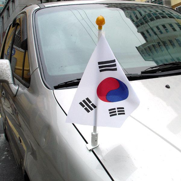 수기 겸용 차량용 태극기(본네트용)/10개세트