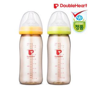 더블하트 SofTouch 모유실감젖병240ml 색상택일 (오렌지/그린)