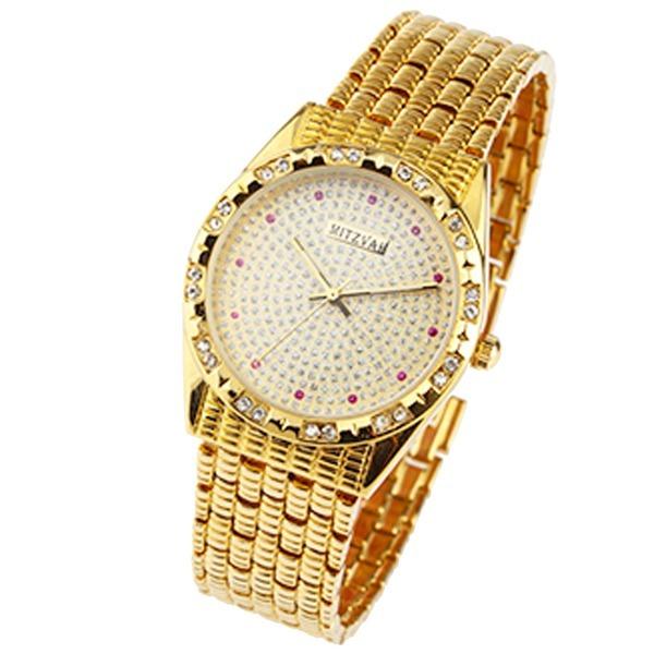 시계 미츠바 보석 시계 남성 여성 손목시계 금장시계