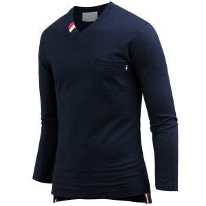 남자 남성 티셔츠 긴팔 테잎언발 브이넥티 ts3307