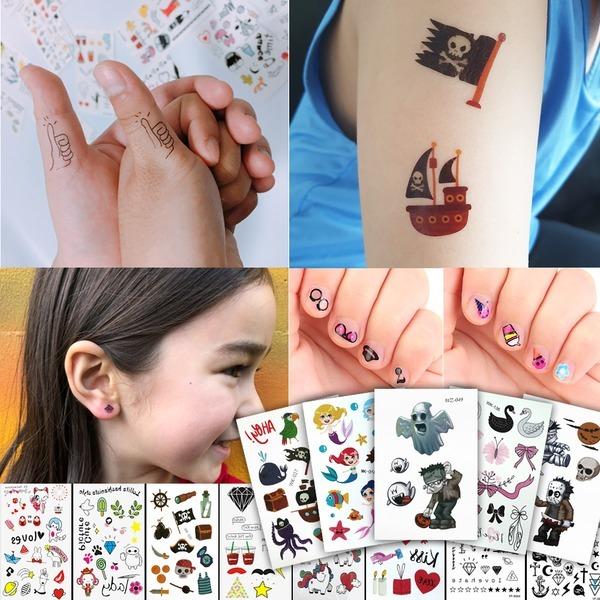KC인증(10종1세트)아동 유아 어린이 타투 헤나 스티커