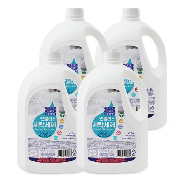 인블리스 블루 액체 세탁세제 2.5L x4개