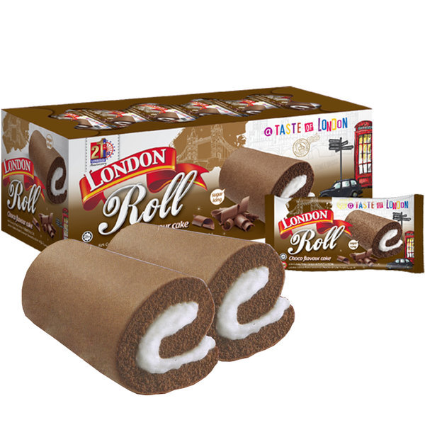 (무배) 런던 롤 초코 케이크 (20개입)/런던롤/팬다/빵