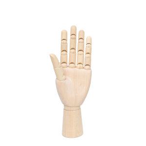 나무관절 손가락목각인형 (25cm) 왼손