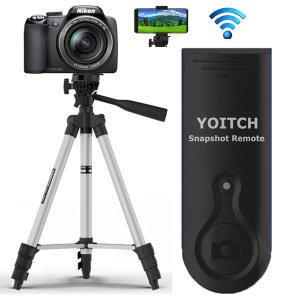 핸드폰 카메라 삼각대 거치대 블루투스 리모컨1세트