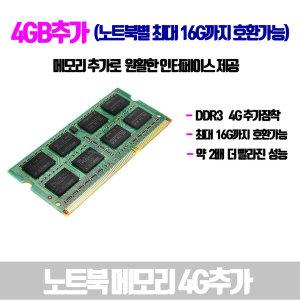 노트북 4G 메모리 추가