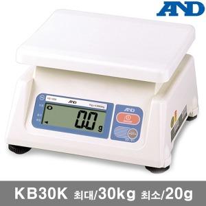 AND 전자저울 KB30K/최대30kg 최소20g 디지털 저울