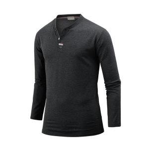 남자 남성 헨리넥 티셔츠 여밈포인트 긴팔티 ts4222