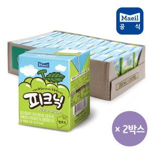 피크닉 청포도 200ml 48팩/쥬스/주스/과채/과즙/음료