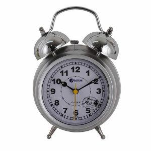 탁상용자명종 소리큰자명종 시끄러운시계 H4548 실버