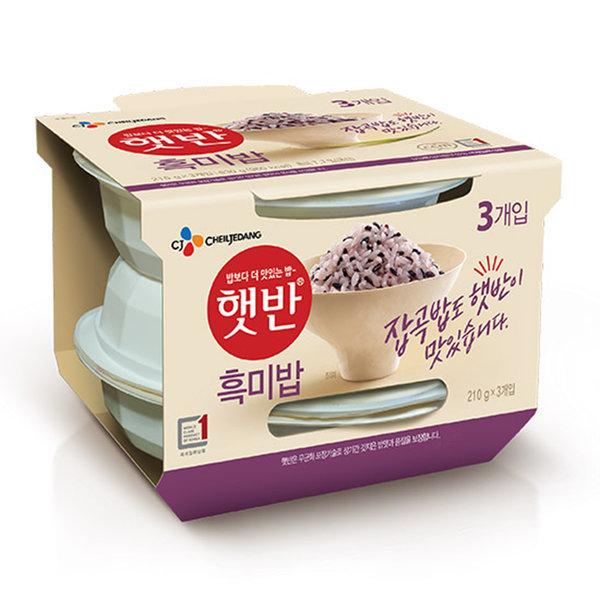 햇반 흑미밥210g 36개