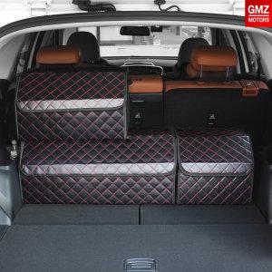 GMZ 퀼팅가죽 트렁크정리함 레드_중형/자동차용품